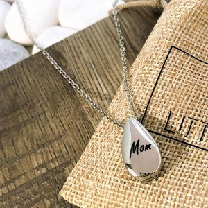 Water drop urn heart ashes cremation necklace